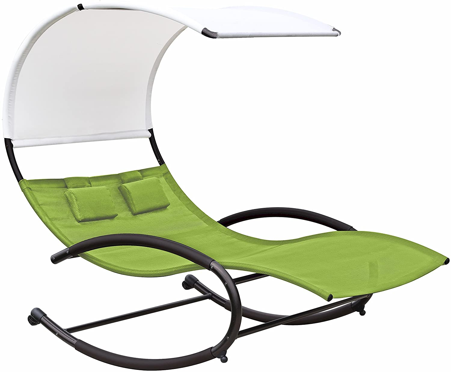 patio furniture garden double seat chaise chair canopy pool beach rocker swing ebay. Black Bedroom Furniture Sets. Home Design Ideas