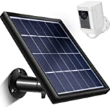 Skylety Solar Panel for Ring Spotlight Cam with Security Wall Mount, 5 m/16.4 ft Cable with Barrel Connector, 5 V/3.5 W (Max) Output (Not for Stick Up Cam/Arlo Cam Series) without CAM