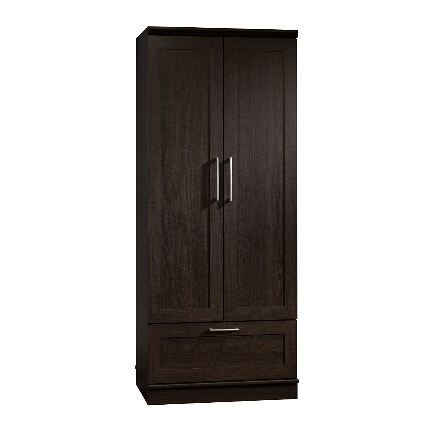 Marvelous photograph of Armoire Wardrobe Closet Storage Drawer Wood Bedroom Furniture Clothes  with #2A231D color and 1500x1500 pixels