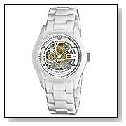 Emporio Armani Men's AR1415 Ceramic White Skeleton Dial Watch