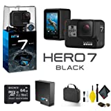 GoPro HERO7 Black Action Camera with 64GB Memory Card Case and More - Starter Bundle (Tamaño: Starter Bundle)