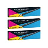 Prismacolor Ebony Graphite Drawing Pencils, Black,12-Count, Pack of 3 (Tamaño: Pack of 3)