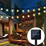 Globe String Lights, CMYK 20 Ft 30 Crystal Balls Waterproof LED Fairy Lights, Outdoor Starry Lights Solar Powered String Lights, Decorative Lighting for Home, Garden, Party, Festival (Warm White) (Color: Warm White, Tamaño: WW-Solar)