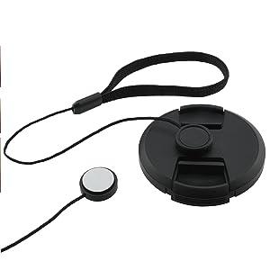 72mm Lens Cap Bundle - 4 Snap-on Lens Caps for DSLR Cameras - 4 Lens Cap Keepers - Microfiber Cleaning Cloth Included - Compatible Nikon, Canon, Sony Cameras (72mm) (Color: Lens Cap Bundle, Tamaño: 72mm)