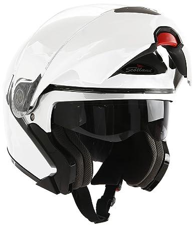 Scotland 100047-bn-s Casque Modulaire Force 02, Blanc
