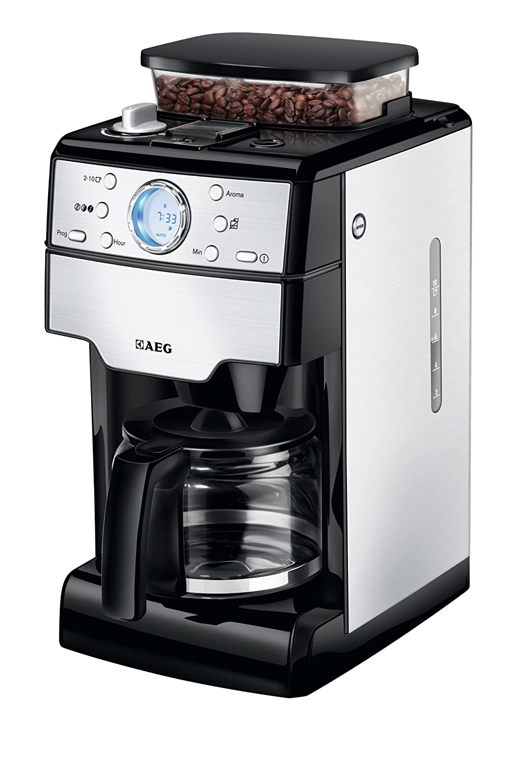 aeg electrolux kam300 bean to cup coffee machine with. Black Bedroom Furniture Sets. Home Design Ideas
