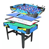 Pinty 48'' Foosball Table OR 4 in 1 Multi Game Table, Hockey Table, Soccer Football Table, Pool Table, Table Tennis Table Game OR 84'' Air Hockey Table (48'' (4 in 1) Combination Table)