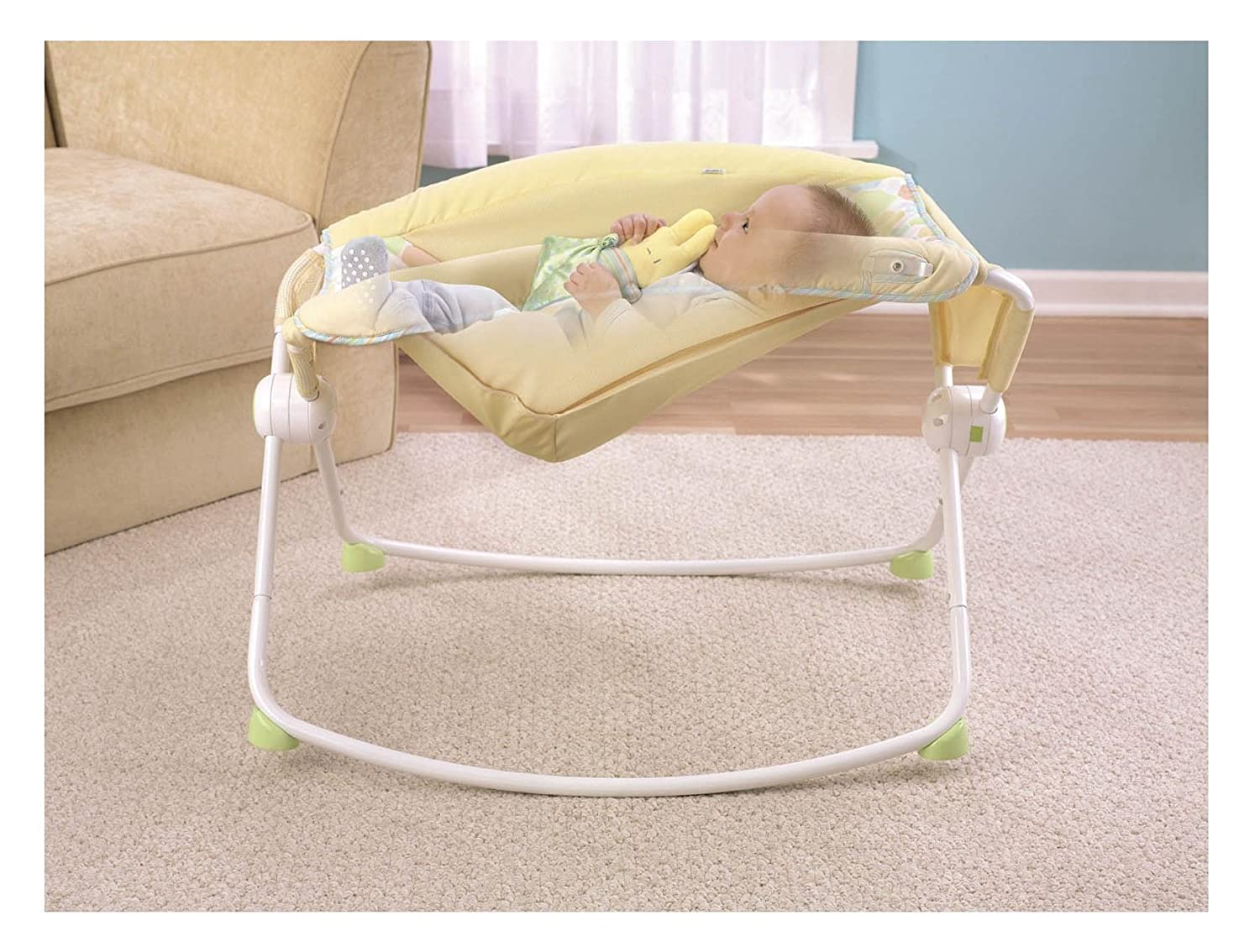 Baby bed next to bed - Buy Fisher Price Newborn Rock N Play Sleeper Yellow Online At Low Prices In India Amazon In