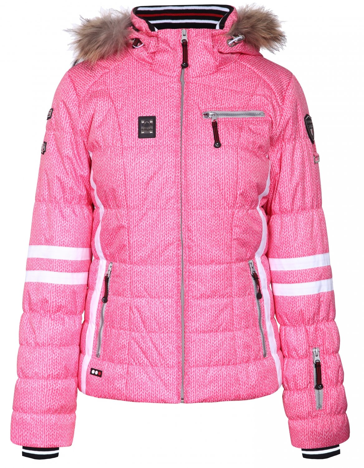 Icepeak CARLY REAL FUR neonpink