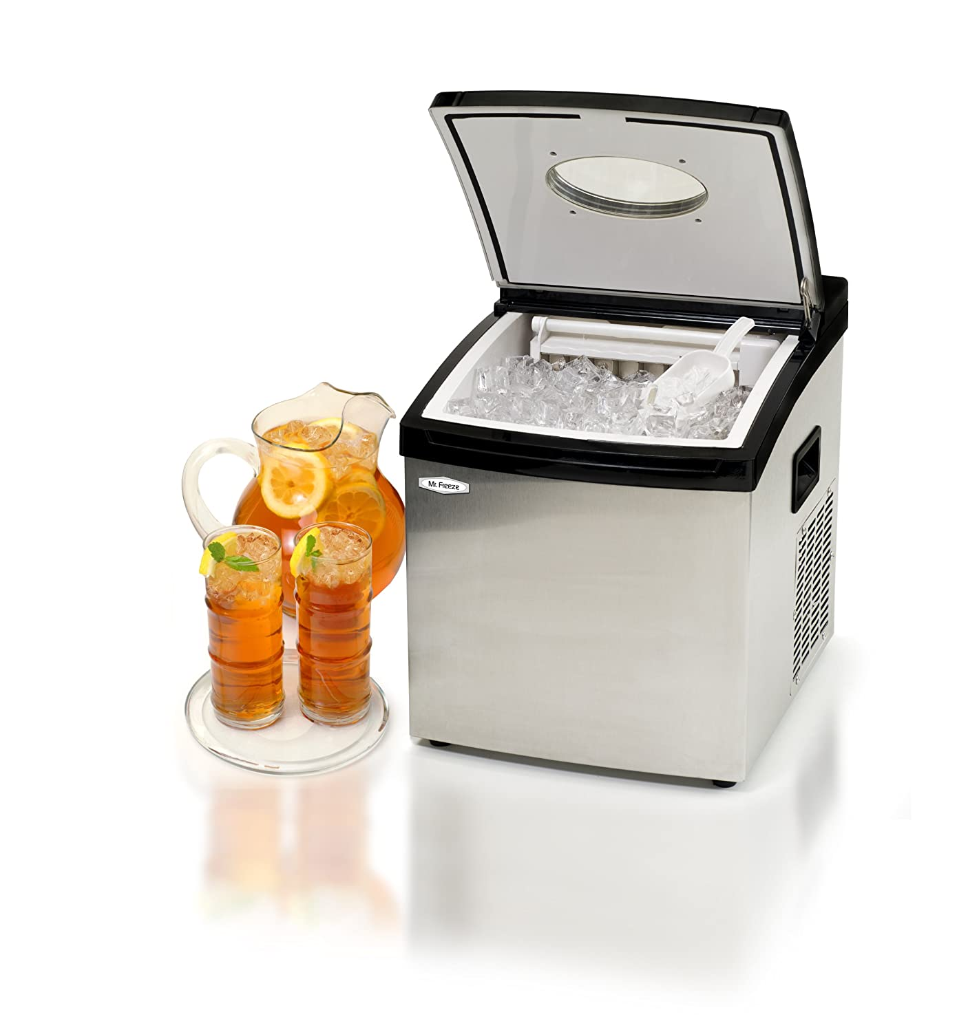Portable Ice Cube Maker Machine Stainless Steel Wet Bar