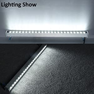 RSN LED 24W Linear Bar Light Cool White 6000K Outdoor Wall Washer IP65 Waterproof 2 Years Warranty (Color: Cool White)
