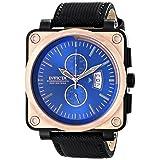 Invicta Men's 16165 Corduba Analog Display Japanese Quartz Black Watch (Color: blue)