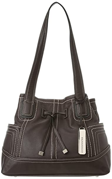 Tignanello Super Stitch Drawstring Shoulder Bag 90