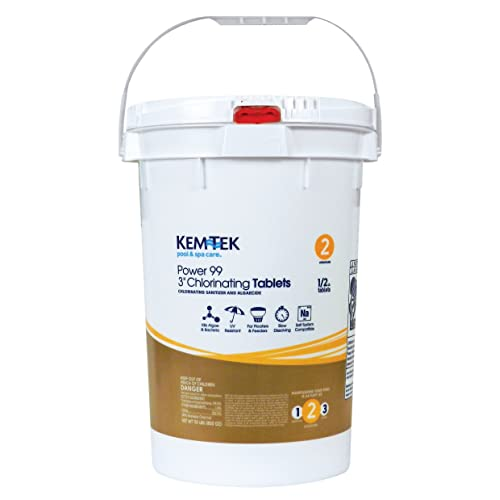 Kem-Tek Power 99 3 Chlorinating Tabs 50 Lbs