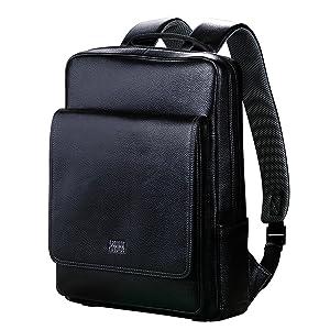 [パボジョエ]Pabojoe リュック  革 バッグ 2way 男女兼用 軽量本革 大 多機能 通学 通勤用 教科書対応 旅行 高校生 中学生用