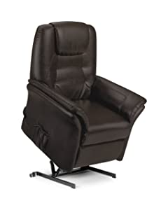 Julian Bowen Riva Rise and Recline Chair, Brown       Customer review and more information