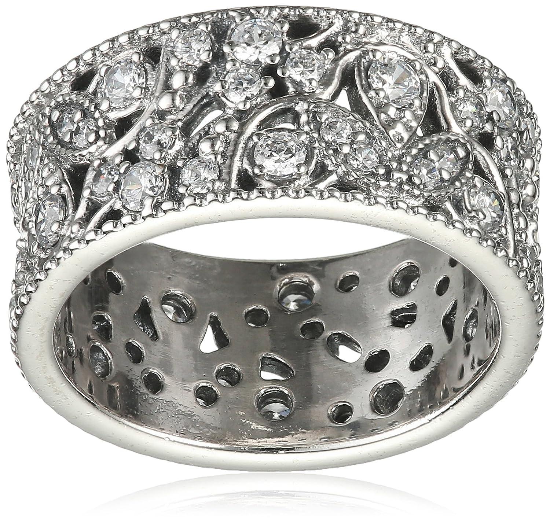 Pandora Damen-Ring Leuchtender Blätterkranz 925 Silber Zirkonia transparent – 190965CZ günstig