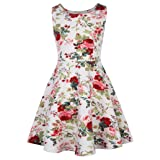 GRACE KARIN Girls Casual Floral Swing Dresses for Toddler 11-12yrs CL487-1 (Color: CL487-1, Tamaño: 11-12 Years)