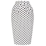 GRACE KARIN Slim Vintage Pencil Skirts for Women Cotton Floral CL008928