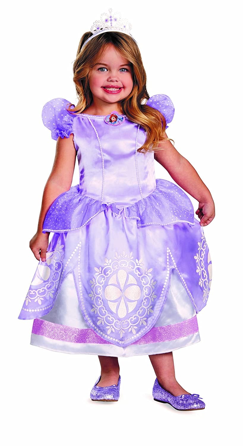 Disguise Girl's Disney The First Sofia Deluxe Costume, 3T-4T