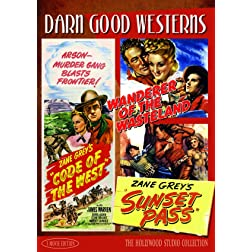 Darn Good Westerns #3 Code of the West, Sunset Pass, Wanderer of the Wasteland