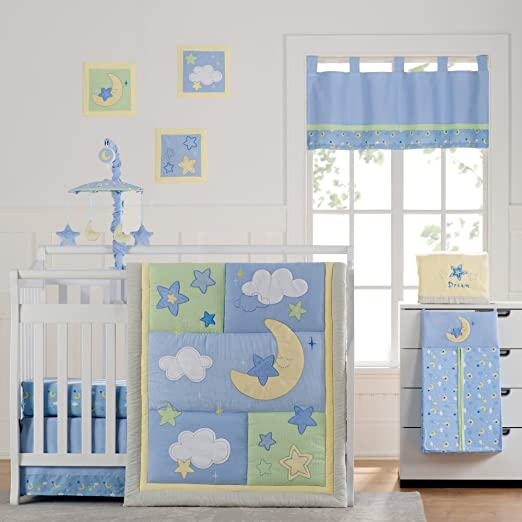 Laugh Giggle and Smile Wish I May Baby Bedding