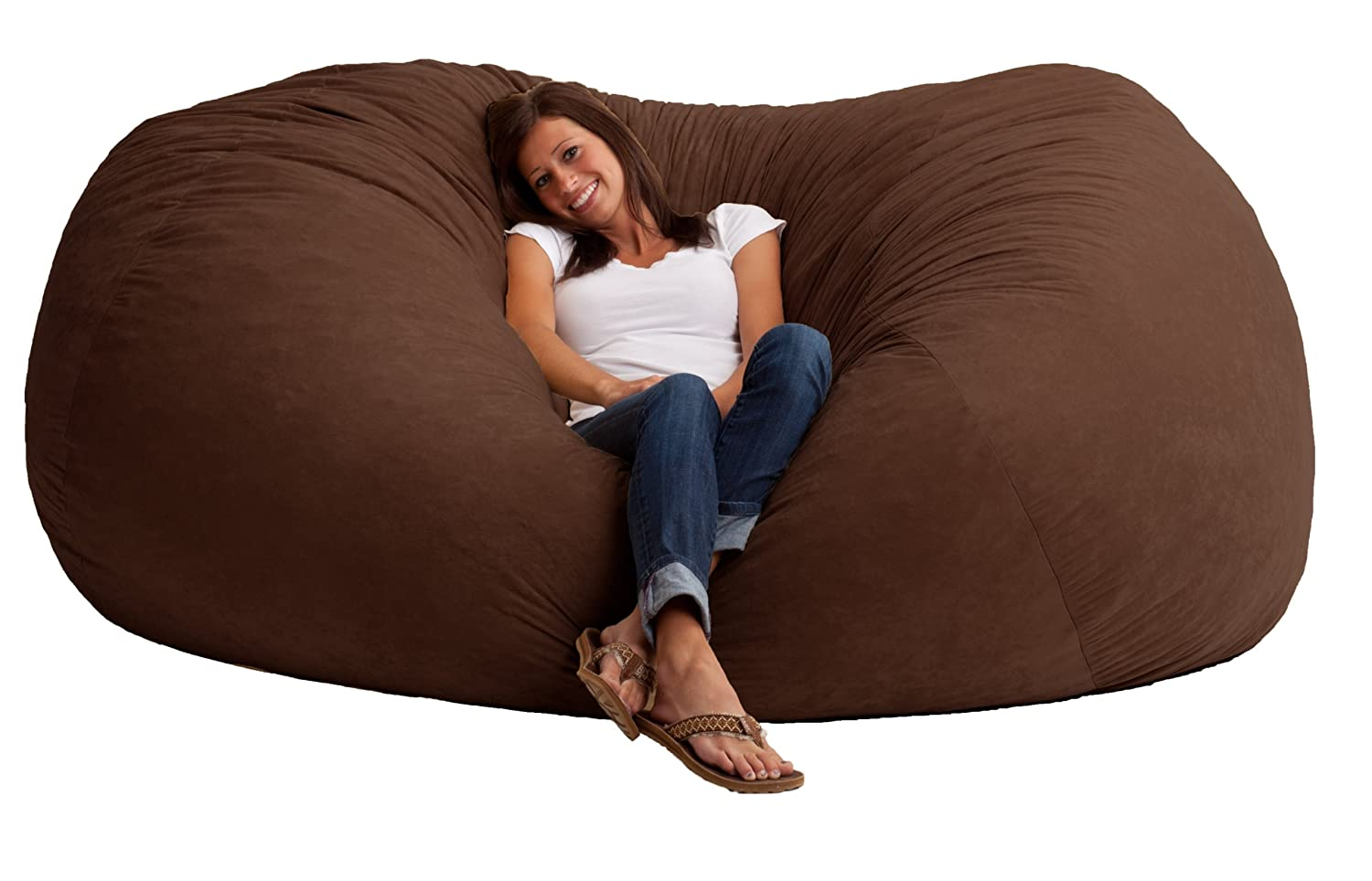 Large Lounge Floor Pillows : Chair Sofa Oversized Furniture Recline Comfort Seat Lounge Bedroom Dorm Bean Bag eBay