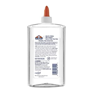 Elmer's Liquid School Glue, Clear, Washable, 16 Ounces - Great for Making Slime (Color: Clear, Tamaño: 16 Oz.)