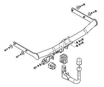 Für Lancia Delta 5-Tür Anhängerkupplung starr+ES 13p ABE