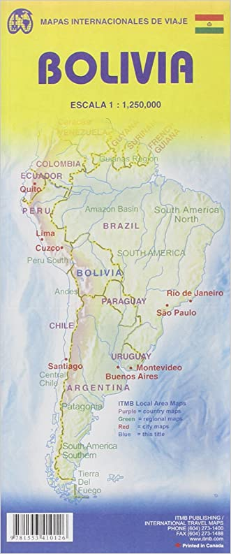 Bolivia Travel Reference Map 1:1,250,000 (International Travel Maps)
