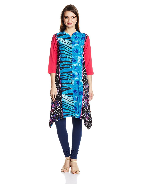 Amazon Fashion End of Season Sale!! 40% - 80% Off On Everything By Amazon   Rain and Rainbow Women's Asymmetrical Hemline Kurta @ Rs.418