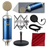 Blue Microphones Bluebird SL Large-Diaphragm Condenser Microphone with Mic Stand, Pop Filter, and Basic Bundle (Tamaño: Basic)