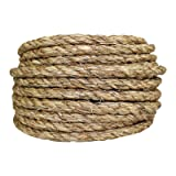 SGT KNOTS Manila Rope | Size 1/4-3 inch | Length 10-1200 ft | Tan Rope/Brown Rope - Twisted Manila 3 Strand Natural Fiber Cord | Ropes for Indoor and Outdoor Use | 1/2 inch x 100 feet (Tamaño: 1/2 in x 100 ft)