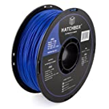 HATCHBOX 3D ABS-1KG1.75-BLU ABS 3D Printer Filament, Dimensional Accuracy +/- 0.03 mm, 1 kg Spool, 1.75 mm, Blue (Color: blue, Tamaño: SIZE)