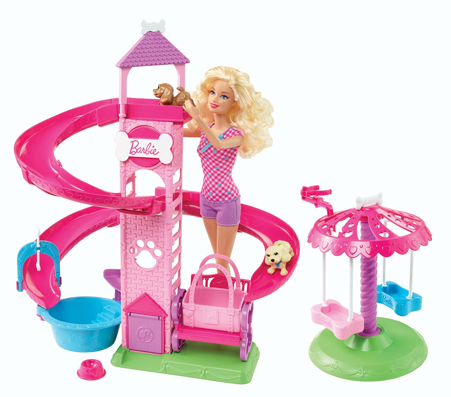Barbie Slide and Spin Pups Playset