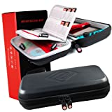 Satisfye - Ultimate Switch Case for Nintendo Switch - Premium Switch Carrying Case. Screen Protector and Travel Case, #1 Switch Accessories Designed for Gamers. FREE BONUS INCLUDED: Detachable Strap (Color: Black, Tamaño: 1)