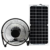 GOODSOZ 10W 12V Solar Panel Powered Fan Ventilator for RV Trailer Chicken House Dog House Roof Vent Multi-Functional Charger (Tamaño: 10W Flexible solar panel + Fan + Alligator clips)