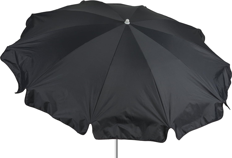 beo Sonnenschirme wasserabweisender, rund, Durchmesser 200 cm, anthrazit / schwarz günstig online kaufen