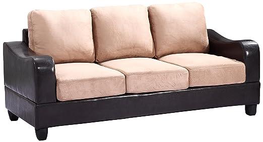 Glory Furniture G628-S Living Room Sofa, White