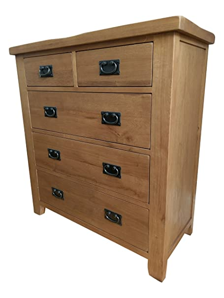 Westminster Rustic Oak 5 Drawer Chest of Drawers