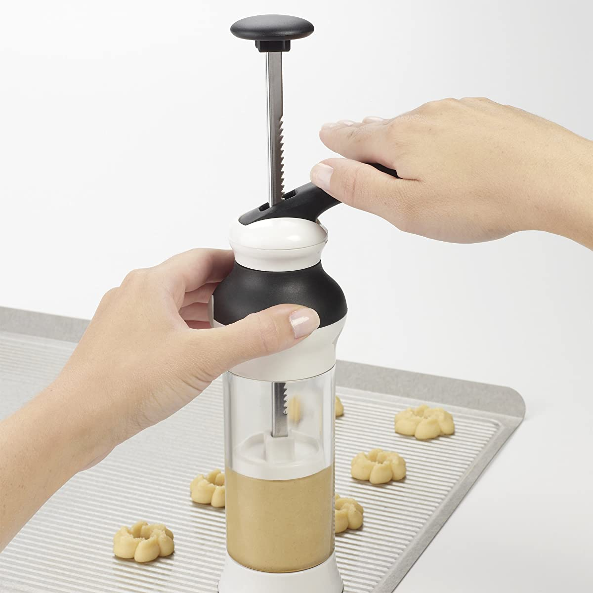 OXO Good Grips Cookie Press with Stainless Steel Disks and Storage Case