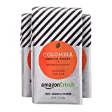 AmazonFresh Colombia Ground Coffee, Medium Roast, 12 Ounce (Pack of 3) (Tamaño: 12 Ounce (Pack of 3))