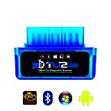 TU2Codez Mini OBD2 Scanner Bluetooth | OBDii New Chip - Identify Problem, Pass Emissions Test, Clear & Repair Check Engine Light | Android OBD2 Only |