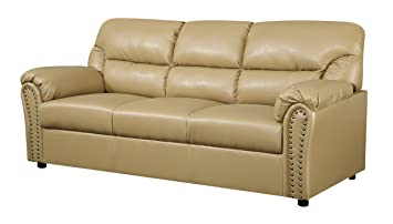 Glory Furniture G261-S Living Room Sofa, Tan