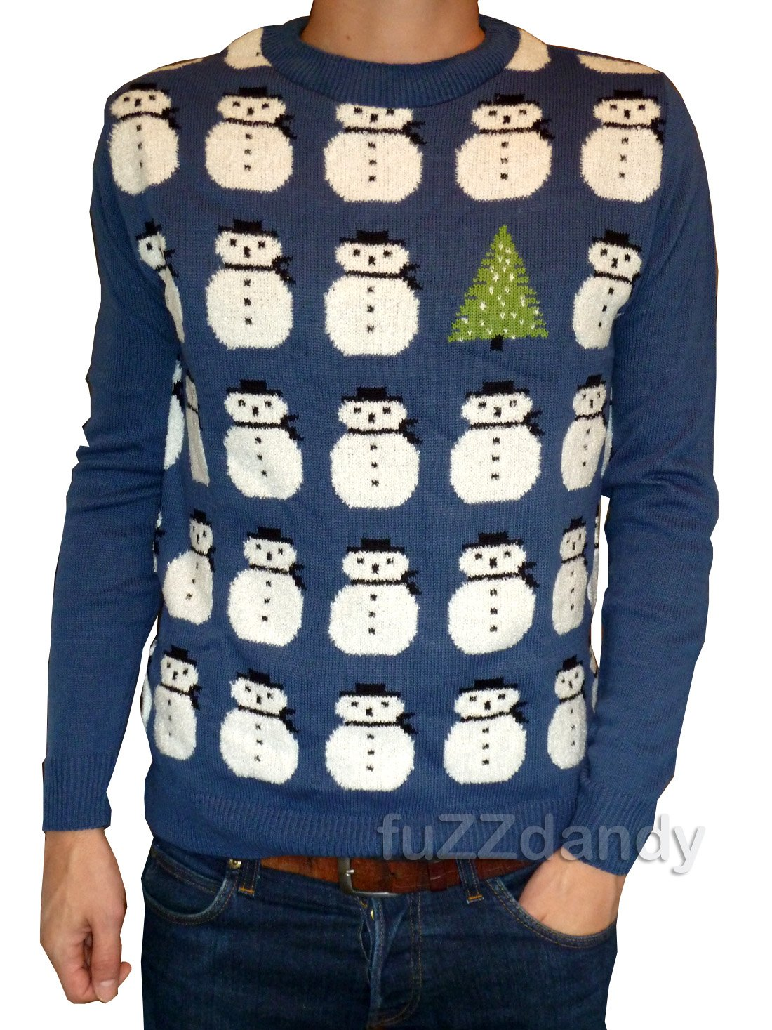 Snowman Christmas Jumper (Red or Blue)