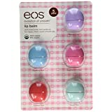 Eos Evolution Of Smooth Lip Balm, Passion Fruit, Blueberry Acai, Strawberry Sorbet, Sumer Fruit, & Sweet Mint, 5 piece (Tamaño: 5 Pack)