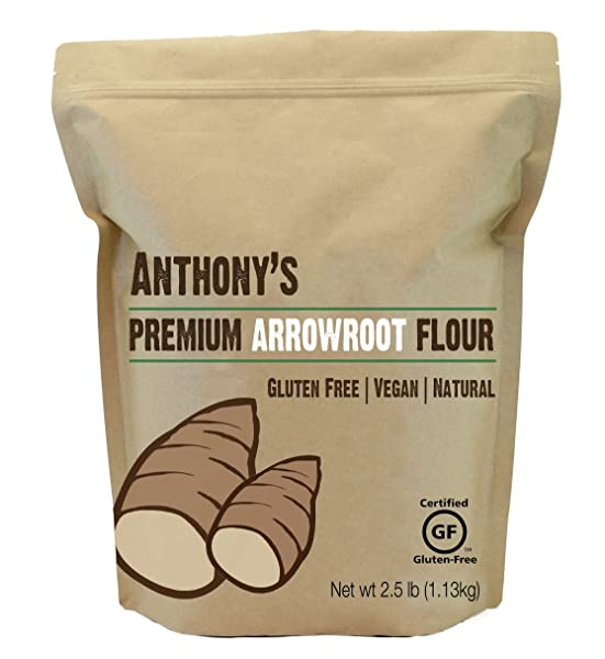 Arrowroot Flour (2.5 Pounds) by Anthony's Via Amazon