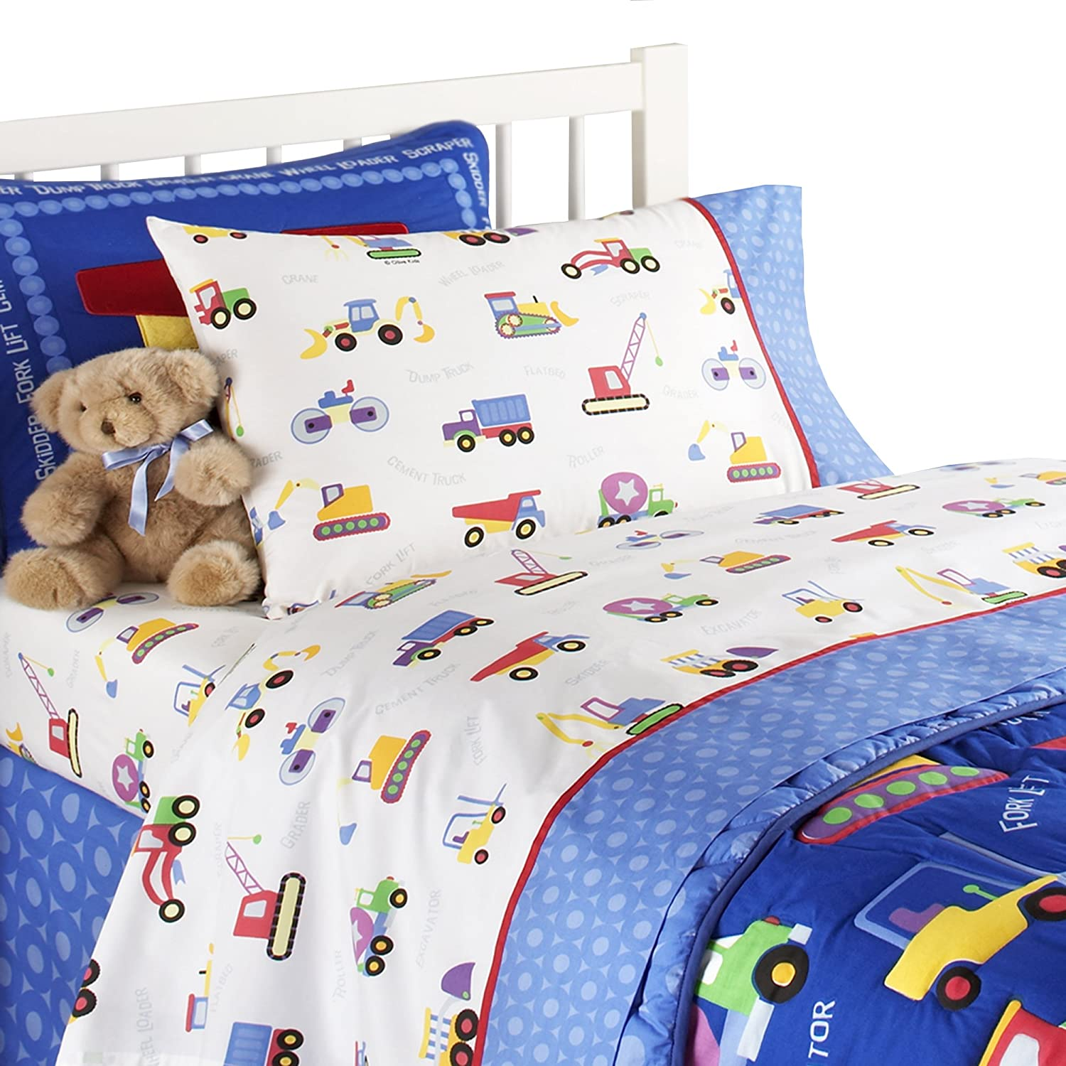 Boys Construction Sheets : Olive kids piece full under construction sheet set new