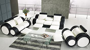 Salon Design Cuir Relax Pierce Canapa C 3 Places 2 Places Fauteuil Jdfhbkjdnkh