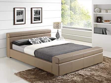 New Stone Modern Luxury Italian Style 5ft King Size Faux Leather Designer Bed Frame